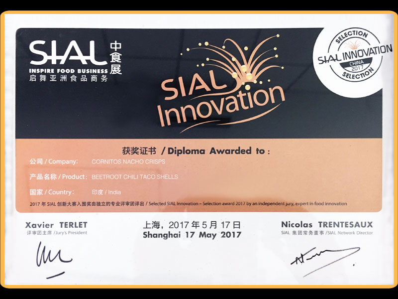 Awarded SIAL Innovation For Beetroot Chilli Taco Shells