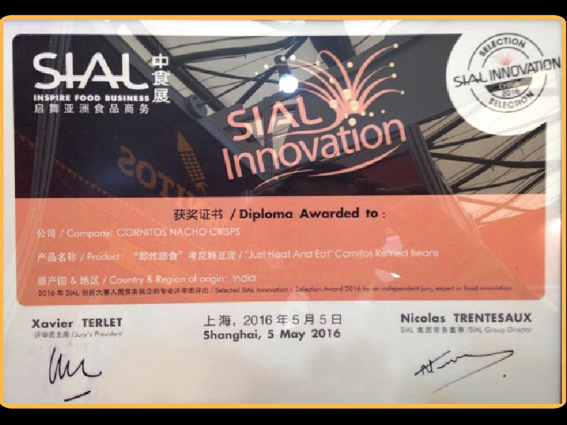 Awarded SIAL Innovation For 'Just Heat & Eat' Cornitos Refried Beans