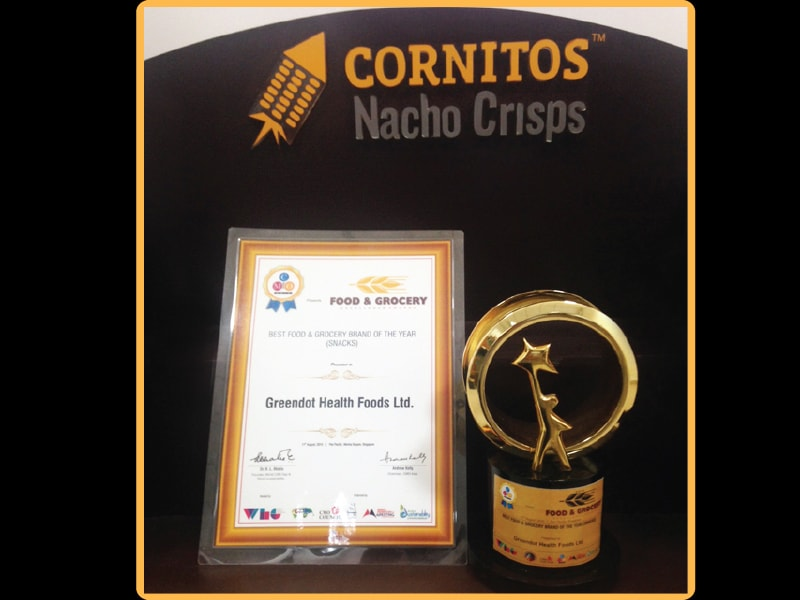 Awarded at CMO Asia For Best  Food & Grocery Brand Of The Year (Snacks)