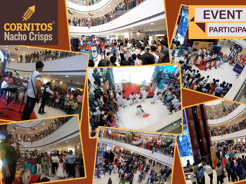 Independence Day Special Cornitos Snack Partner activity in Logix City Centre Mall, Noida