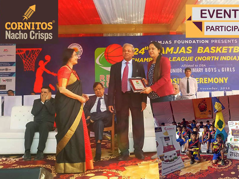 Cornitos as a snack partner for 24th Ramjas Basket Ball Champions league (North India 2018) in which 45 schools joined the league.