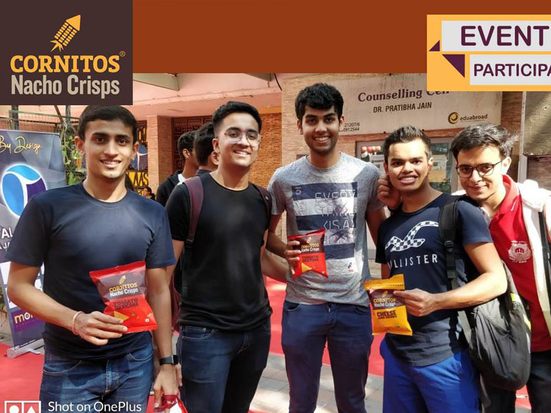 Cornitos Snack partner in Jai Hind College in Mumbai