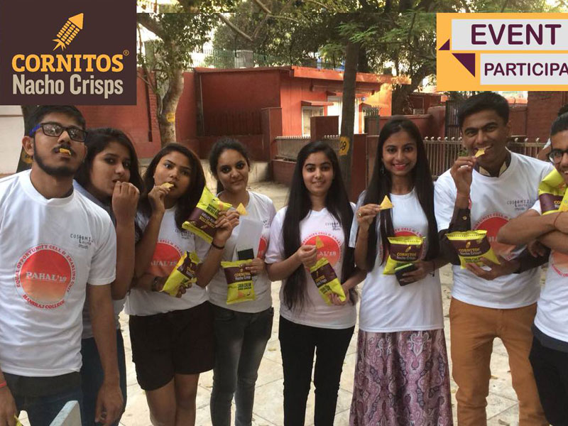 Cornitos Snack Partner for Hansraj College Fest