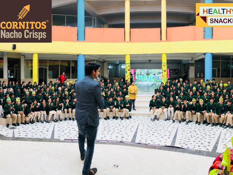 Cornitos Healthy Snacking Awareness Activity in Gyan Jyoti School, Mohali
